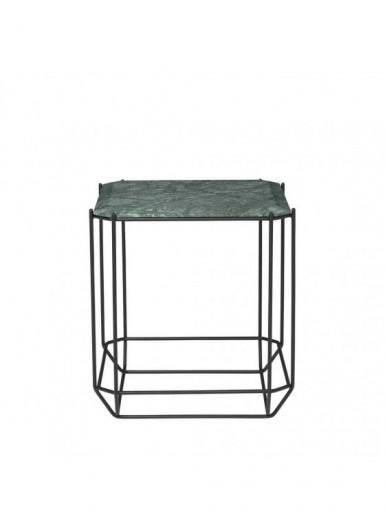 Jewel stolik kawowy zielony marmur 40x40cm