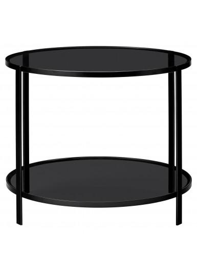 FUMI stolik ze szklanym blatem śr.40xH58cm