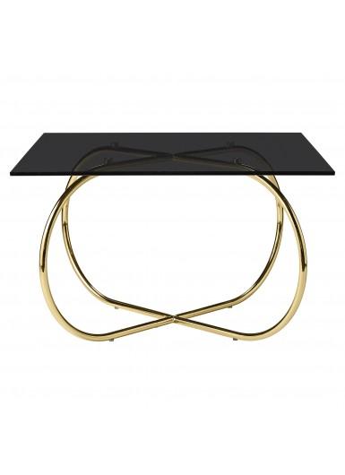 ANGUI stolik kawowy ze szklanym blatem 75x75cm