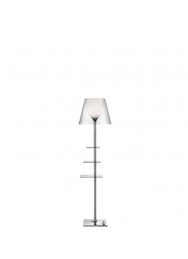 BIBLIOTHEQUE NATIONALE transparentna lampa podłogowa Flos