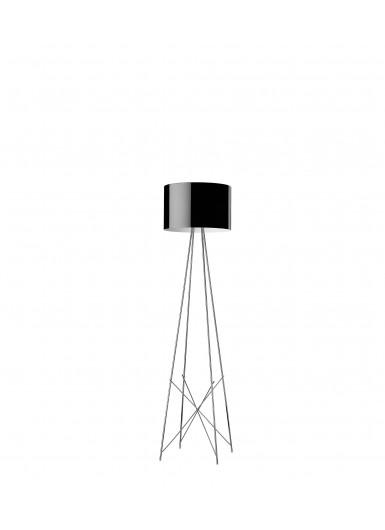 RAY F2 czarna lampa podłogowa Flos