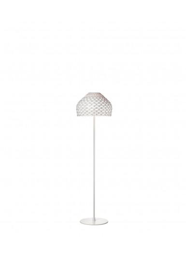 TATOU F biała lampa podłogowa Flos