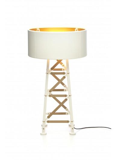 CONSTRUCTION S śr. 50 cm biała lampa podłogowa MOOOI
