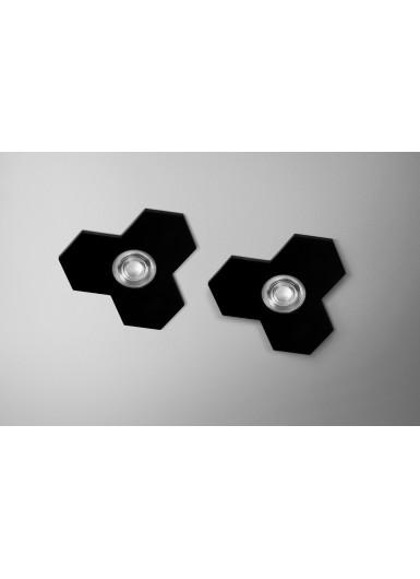 SATELLITE 8W reflektor wpuszczany czarny połysk AQFORM