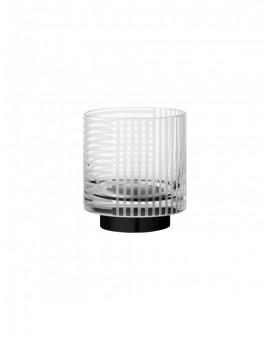 VITREUS szklany tealight świecznik ręcznie cięty
