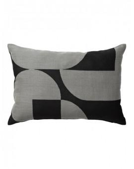 FORMA poduszka z dziewiczej wełny, designerski wzór, szara