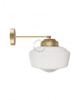 Porcelanowy kinkiet w stylu vintage loft industrial biały śr.8cm