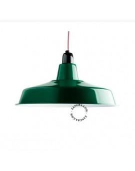 LAMPA WISZĄCA emaliowana zielona