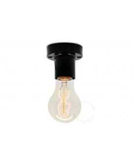 Lampa porcelanowa w stylu vintage industrial czarna śr.6cm